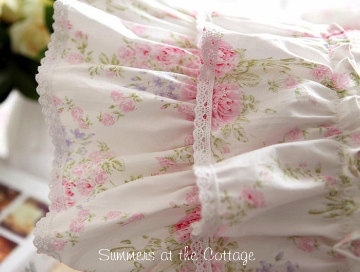 Vintage Roses Collection Ruffled Pillow Sham
