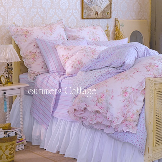 shabby chic bedding authentic shabby chic rachel ashwell duvet shabby cottage style bedding. Black Bedroom Furniture Sets. Home Design Ideas