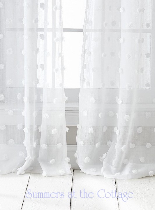 Darling White Chenille Drapes