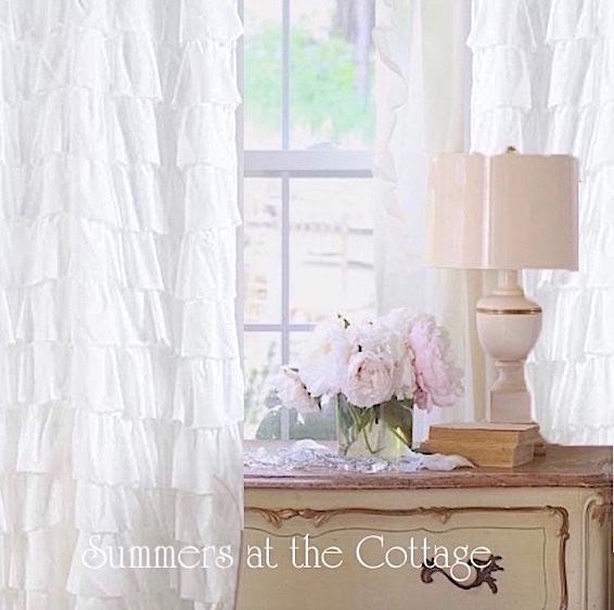 White Cottage French Curtains