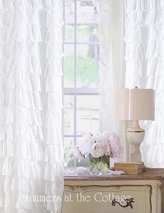 Dreamy White Ruffle Curtain