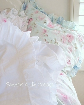 White Cotton Ruffle Fine Linens Sheet Set