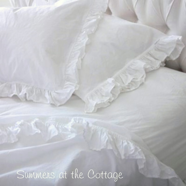 White Ruffle Sheet Set