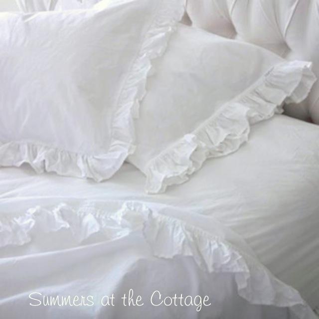 White Ruffle Sheet Set