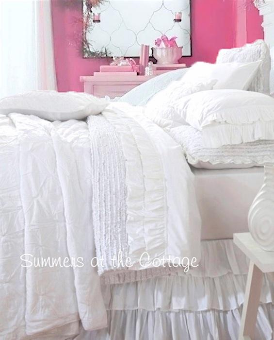 White Ruffled Bedskirt