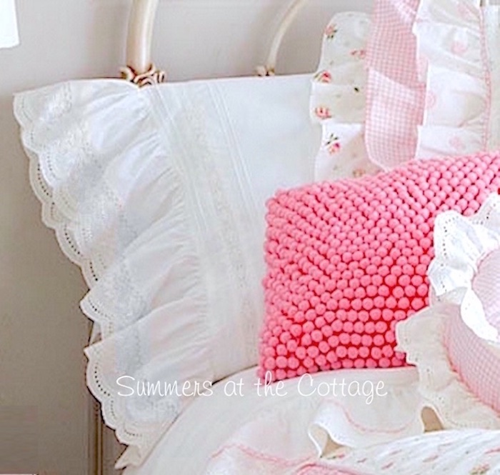 French Lace Ruffle Pillowcases