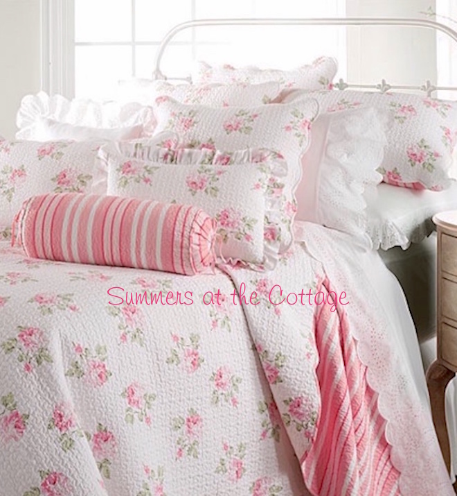 Shabby Chic Cottage Ruffle Sheets