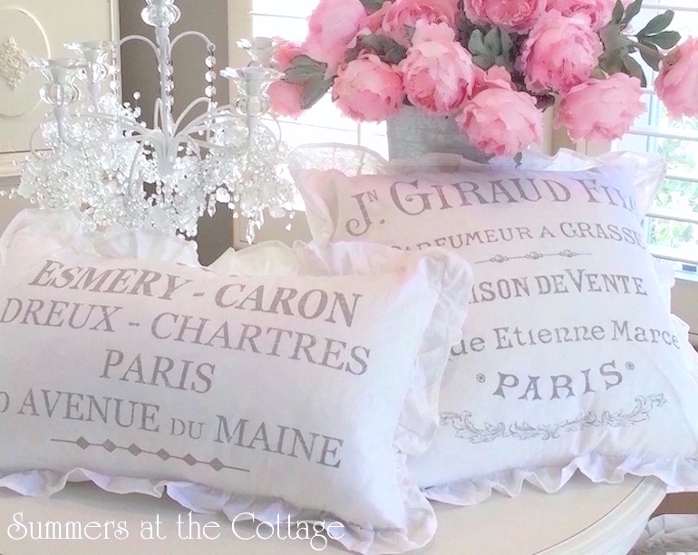 French Linen White Cotton Ruffles Table cloth