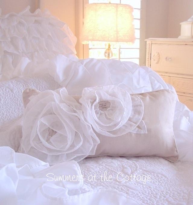 Ruffled White Roses