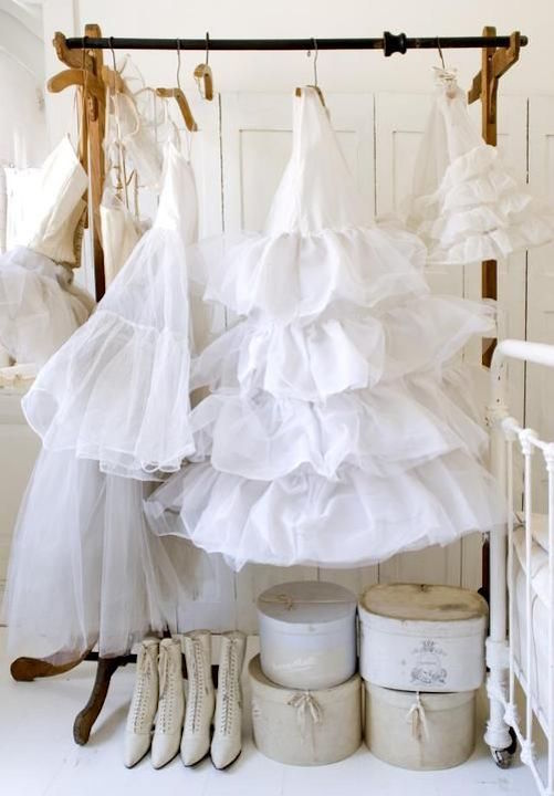 White Cotton Ruffles