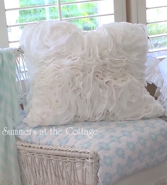 Fluffy Ruffles Roses Pillow