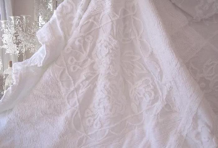 Ruffled Chenille Bedspread