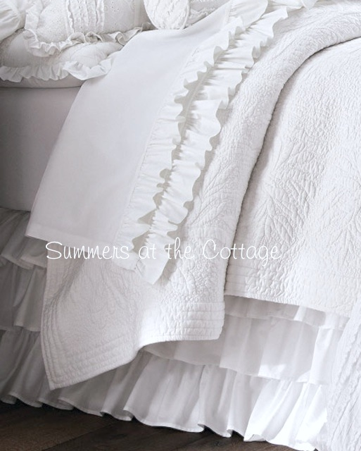 White Layered Bedskirt