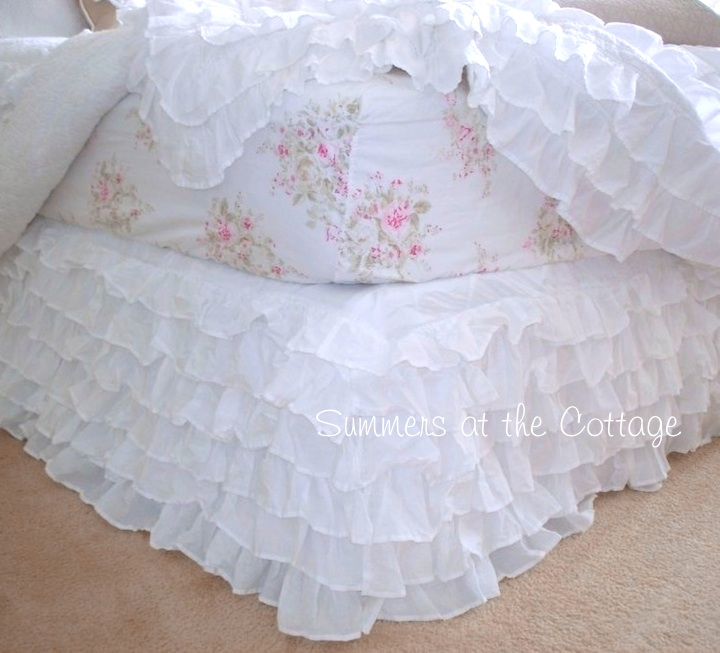 White Layered Bedskirt