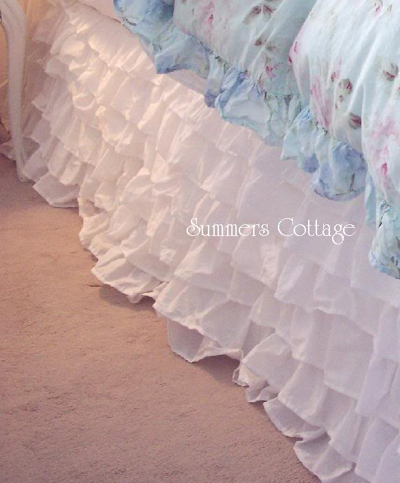 Dreamy White Ruffled Bedskirt