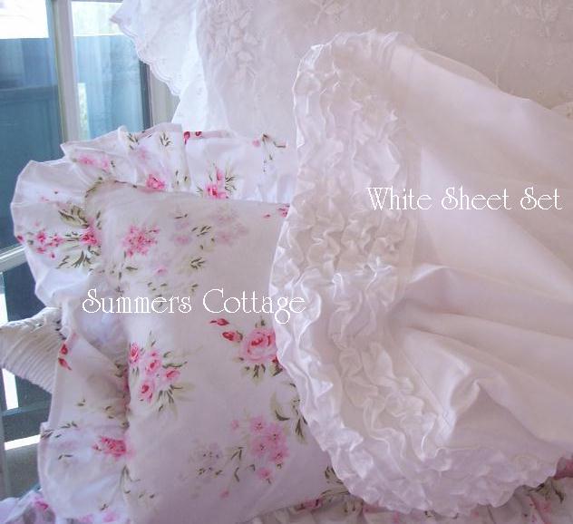White Ruffll Sheets