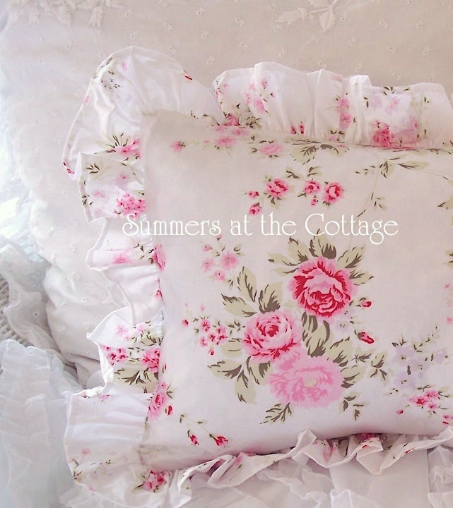 Shabby Chic Rachel Ashwell Wildflower Ruffled Pillow Shams