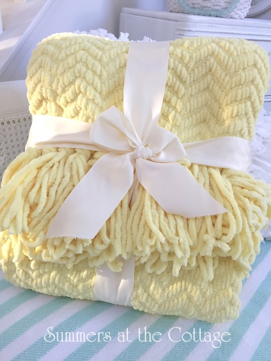 Cottage Bungalow Chenille Throw