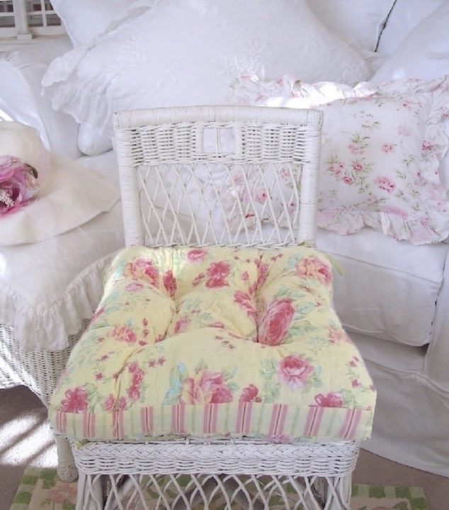 Aqua Pink Roses Cushion